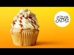 SALTED CARAMEL MACADAMIA NUT CUPCAKES - The Scran Line - YouTube