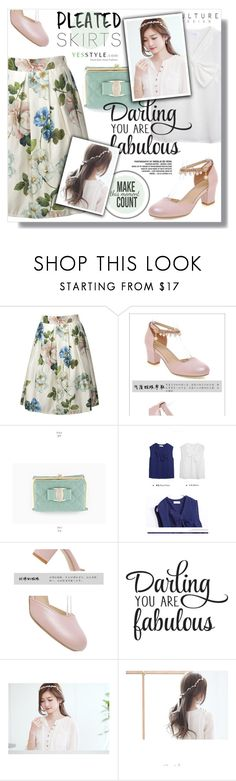 """Preppy ..YesStyle Polyvore Group "" Show us your YesStyle """" by sans-moderation ❤ liked on Polyvore featuring Miss21 Korea and WALL"