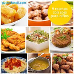 Prueba las recetas que te proponemos con esta saludable legumbre. Una forma de añadir variedad y sabores nuevos a la alimentación de los niños. http://www.guiainfantil.com/recetas/cocinar-con-ninos/recetas-con-soja-para-ninos-sanas-y-faciles/