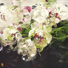 The floral paintings of Bobbie Burgers - Artists Inspire Artists Art Floral, Motif Floral, Big Flowers, Flowers Nature, Beautiful Flowers, Floral Flowers, Florals, Acrylic Flowers, Abstract Flowers