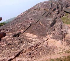 """archaeological site of Inca ruins """"El Fuerte"""" in Samaipata, Boliva"""