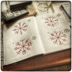 """raevedis: """" This is going to be the final revision of the Vegvisir cipher, making this the version I'm putting in the Skjuggebog. The first three ættir, is presented in the expected sequence of traditional lønrunes. #galdrastafir #pagan #paganism..."""