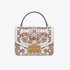 03a6eb59eaba Hicks Garden Leather Satchel - Tradesy Printed Bags, Flower Fashion, Leather  Satchel, Designer