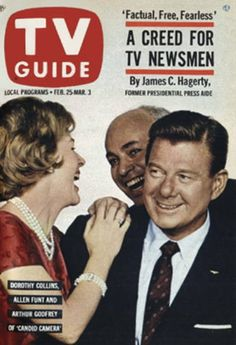 """TV Guide: February 25, 1961 - Dorothy Collins, Allen Funt and Arthur Godfrey of """"Candid Camera"""""""