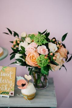 Sweet table - Bun In The Oven Baby Shower (Style Me Pretty & SMP Living)