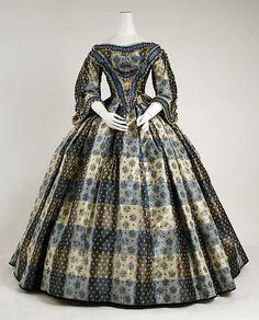 Dinner Dress, 1855-1859, via The Metropolitan Museum of Art.