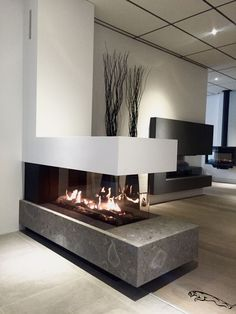 Bellfires room divider large Gas fireplace Nice setup in the showroom of . - Bellfires room divider large Gas fireplace Nice setup in the showroom of … - Home Fireplace, Fireplace Design, Fireplace Showroom, Indoor Gas Fireplace, Lobby Interior, Office Interior Design, Interior Exterior, Office Interiors, Living Room Designs