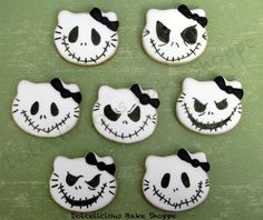 Nightmare Before Christmas Hello Kitty~ Jack Skellington | Cookie Connection