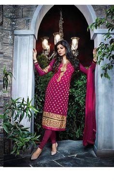 Picture of Ravishing Magenta Designer Salwar Kameez