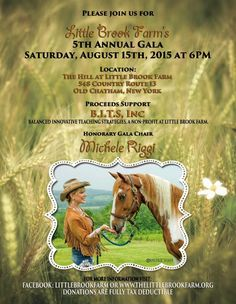 In my latest article, I talked about meeting a miniature horse from The Little Brooks Farm! You can grab a ticket and go right to the farm itself, this Saturday night!