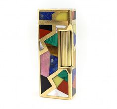 Dunhill 18k Gold & Carved Precious Stone Lighter : Lot 142
