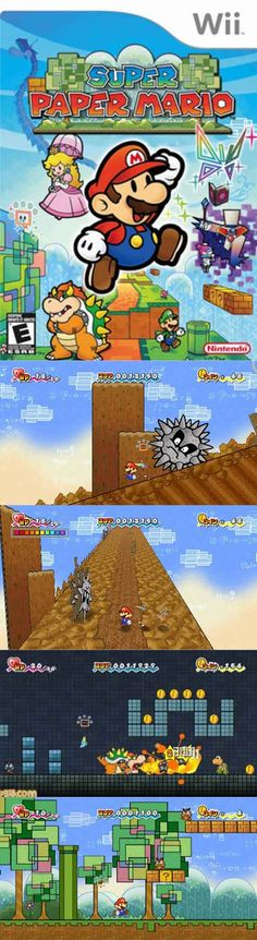 In Super Paper Mario #Lugi, #PrincessPeach, #Mario and #Bowser work together in this #RPG! http://www.levelgamingground.com/super-paper-mario-review.html