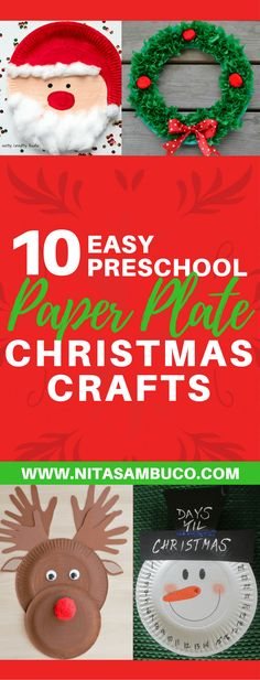 10 Easy Preschool Paper Plate Christmas Crafts