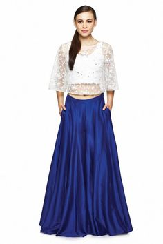 Crop Top and Sharara