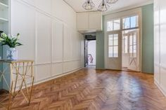 Entrance hall - cubistic flat in Prague, original built in furniture from Built In Furniture, Entrance Hall, Prague, Tile Floor, Divider, Flooring, Flat, The Originals, Building