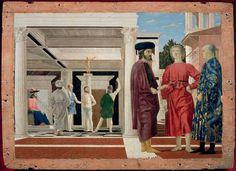 Piero della Francesca, The Flagellation of Christ, 1455-60?, Palazzo Ducale, Urbino