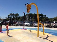 Giraffe shower at Cannington Leisureplex Aquatic Centre