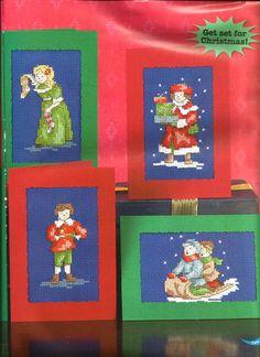 Victorian Children Christmas Cards - Maria Diaz - maximum stitch count 40w x 50h