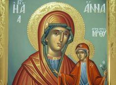 «Μη κλαις! Έχω την Αγία Άννα μαζί μου!» Anna, Orthodox Icons, Princess Zelda, Texts, Food, God, Essen, Meals, Captions