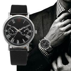 Fashion Watches men's Fashion Retro Design Leather Band Analog Alloy Wrist Quartz Watch Relogio masculino #0802 #Affiliate
