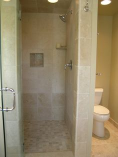 Dimensions For Bath With Doorless Shower 3x5 Minimum But Will Splash Onto Floor 3x6 Is Ideal