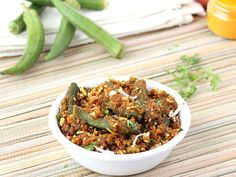 Stir fried bhindi with filling of roasted besan