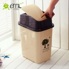 Hot selling practical square dustbin with flip lid