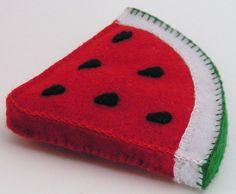Felt Food Watermelon Slice. $4.50, via Etsy.
