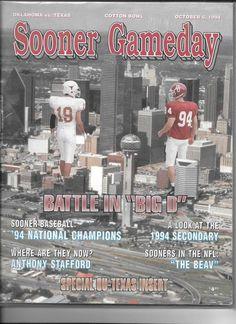 1994 Oklahoma Sooners vs Texas Longhorns game day program  #TexasLonghornsvsOklahomaSooners