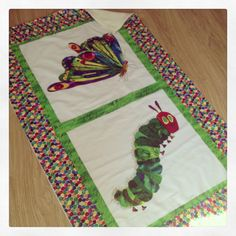 The very hungry caterpillar baby cot blanket by Jellibabies1, £34.99