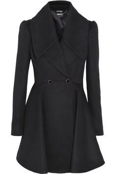 Alexander McQueen|Wool and cashmere-blend coat|NET-A-PORTER.COM. Such a lovely but crisp feminine shape!