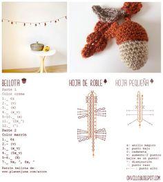 Via: http://ohvillo.blogspot.com.es/2012/11/guirnalda-de-bellotas-de-amigurumi.html?m=1