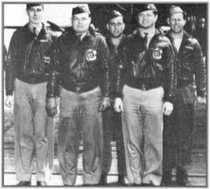 "Take Off Order  13  Tail # 40- 2247 ""The Advenger""-- Target: Yokohama -- Pilot Lt. E.E.McElroy, Co-Pilot Lt. R.A.Knobloch, Navigator Lt. C.J. Campbell, Bombardier Sgt. R.C. Bourgeois, Engineer Gunner Sgt. A.R. Williams --- Bail Out"