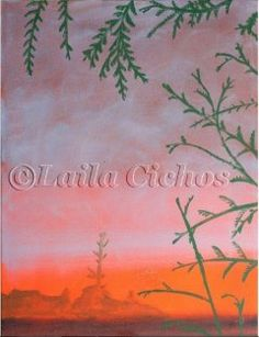 """Morgendis"" (morning mist). Acrylic painting on canvas by Laila Cichos."