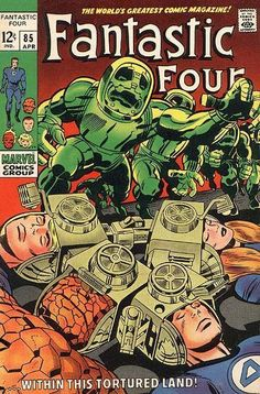 Fantastic Four #85 Jack Kirby Cover. Still one of my favourite FF stories. Dr.Doom and the FF without their powers imprisoned in  Latveria.