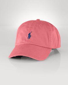 Cotton Chino Baseball Cap - Polo Ralph Lauren Hats - RalphLauren.com