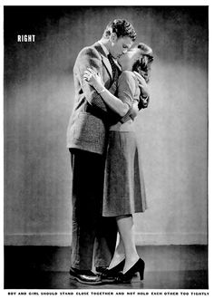 How to Kiss, scanned from Life Magazine circa 1942.