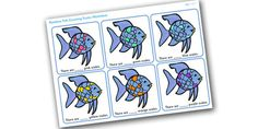 The Rainbow Fish Scales Counting Worksheet