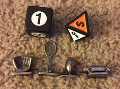 Scene it ESPN Sports DVD Game Tokens Movers & Dice