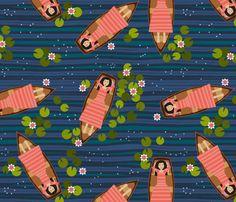 floating under a starlit sky fabric by scrummy on Spoonflower - custom fabric