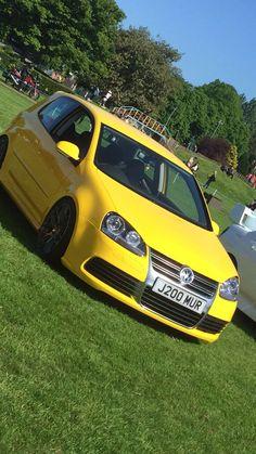 Yellow mk5 golf