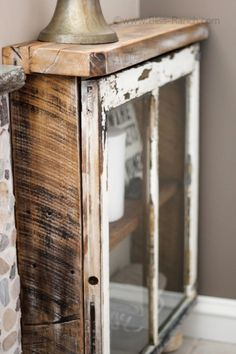 Old+window+reclaimed+wood+cabinet,+by+Bliss+Ranch,+featured+on+Funky+Junk+Interiors