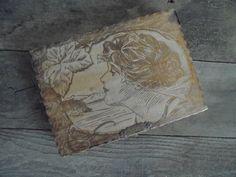 Antique Wood Pyrography Box