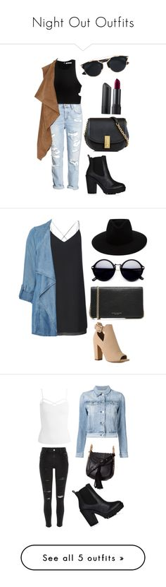 """""""Night Out Outfits"""" by fashionblogger2122 on Polyvore featuring T By Alexander Wang, Dorothy Perkins, Marc Jacobs, Christian Dior, Bite, Miss Selfridge, Evans, rag & bone, Sans Souci and 3x1"""