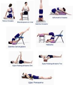 Risultati immagini per iyengar yoga backbend chair Restorative Yoga Sequence, Yoga Sequences, Iyengar Yoga, Yoga Props, Bridge Pose, Yoga Strap, Chair Yoga, Standing Poses, How To Grow Taller