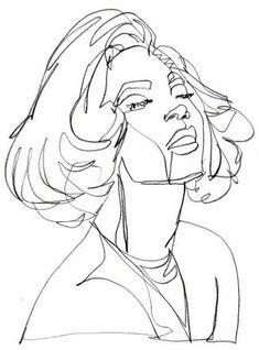 "Boris Schmitz Portfolio - ""Beyoncé"", one-continuous-line-drawing by Boris Schmitz, 2014 Click Face Line Drawing, Single Line Drawing, Contour Drawing, Continuous Line Drawing, Figure Drawing, Painting & Drawing, Drawing Tips, Art Sketches, Art Drawings"