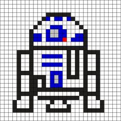 R2D2 - Star Wars Perler Bead Pattern