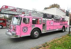 Pink Fire Truck. Great story! Berkley cancer patient Robin Alvarez gets an uplifting visit from Guardian of the Ribbon!!!