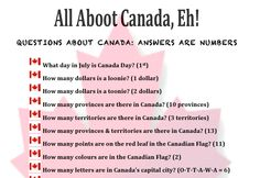 All Aboot Canada Eh! - Canada Day (Trivia in Action): After School Program Activity. Oh Canada! Check out activeafterschool.ca for activities, resources, program planning tools, and more!