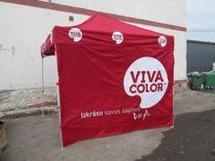 Pop up telk, logo on kuumpresstrükiga Viva color - http://www.promostar.ee/et/pildid?pid=8135